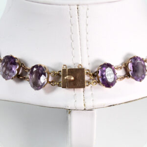 Antique 9ct Amethyst Collar 03
